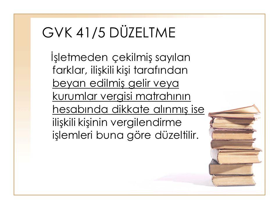 GVK 41/5 DÜZELTME