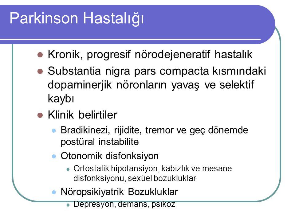 Parkinson Hastalığı Kronik, progresif nörodejeneratif hastalık