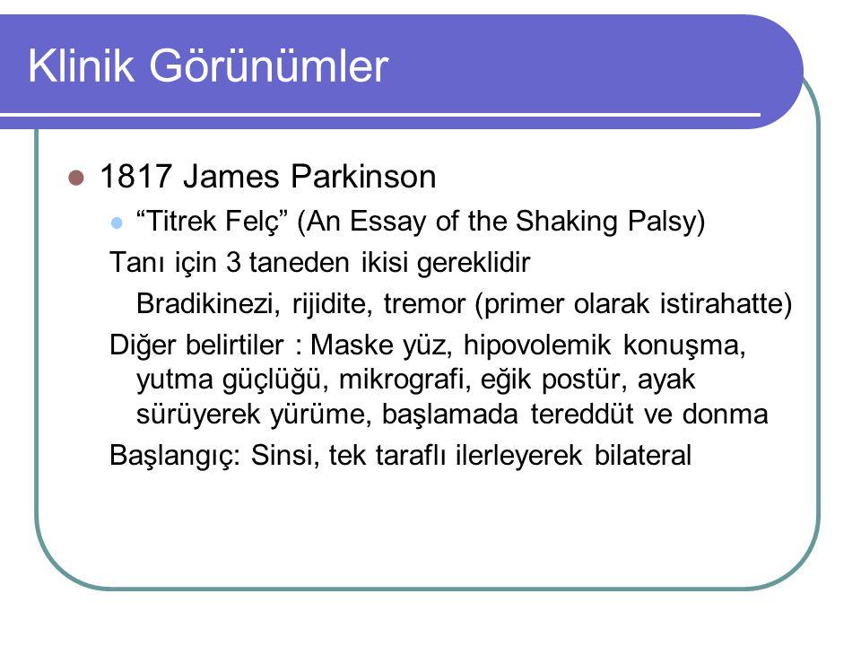 Klinik Görünümler 1817 James Parkinson