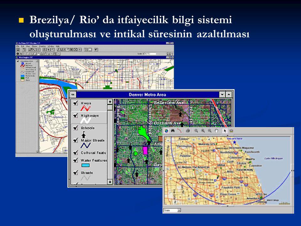 Brezilya/ Rio' da itfaiyecilik bilgi sistemi oluşturulması ve intikal süresinin azaltılması