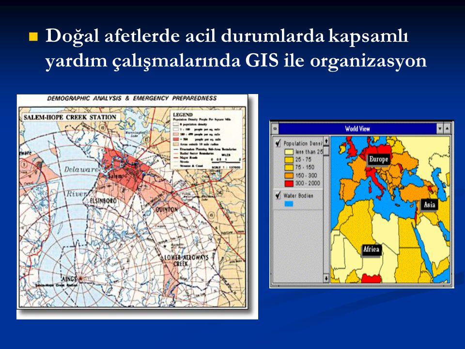 Doğal afetlerde acil durumlarda kapsamlı yardım çalışmalarında GIS ile organizasyon