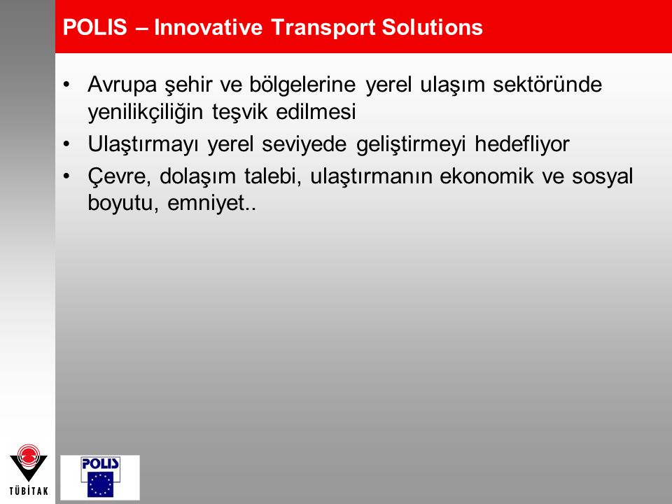 POLIS – Innovative Transport Solutions