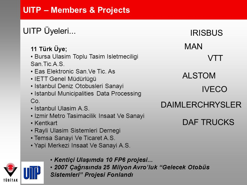UITP – Members & Projects