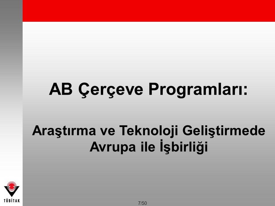 AB Çerçeve Programları: