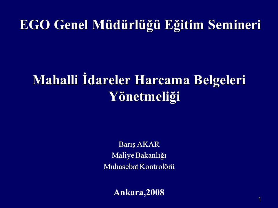 EGO Genel Müdürlüğü Eğitim Semineri