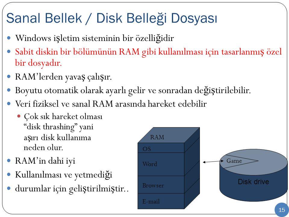 Sanal Bellek / Disk Belleği Dosyası