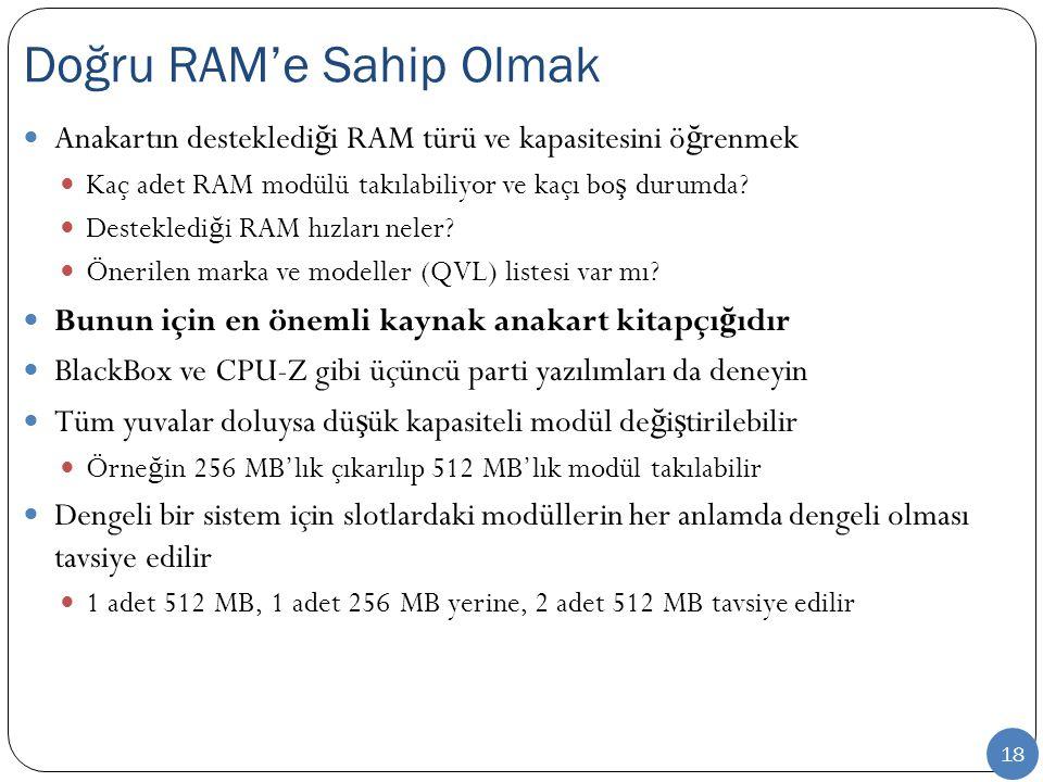 Doğru RAM'e Sahip Olmak