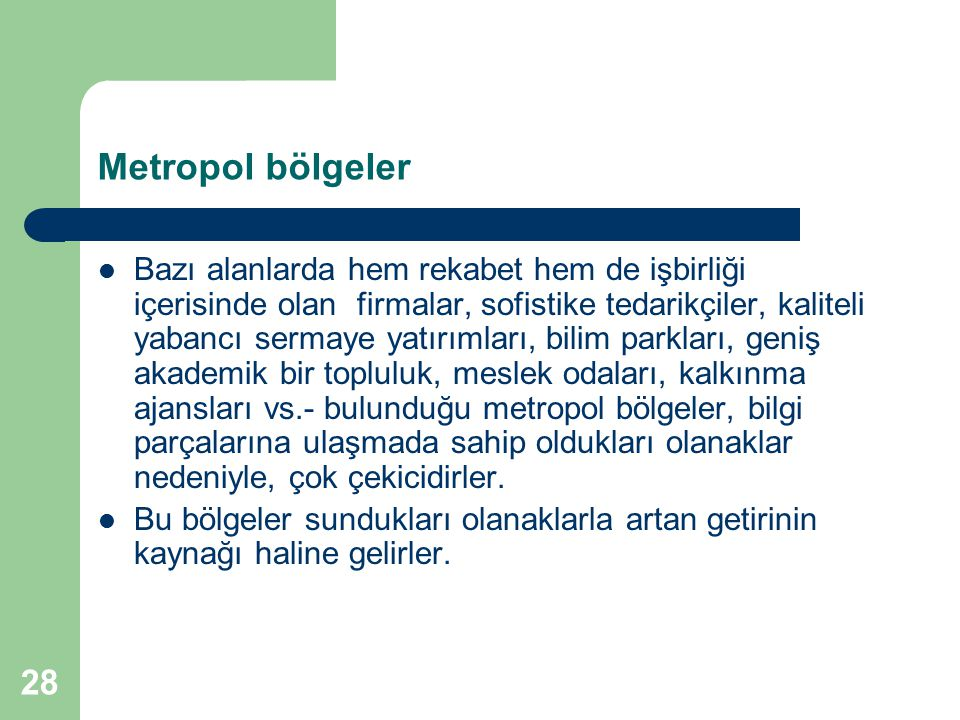 Metropol bölgeler