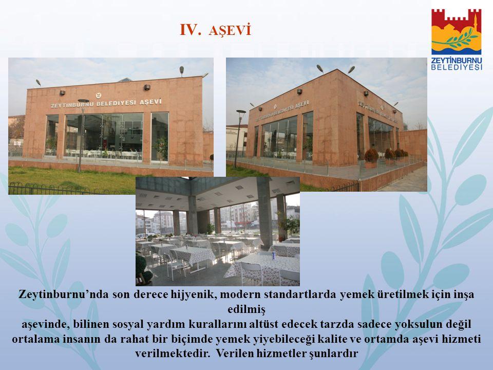 AŞEVİ Zeytinburnu'nda son derece hijyenik, modern standartlarda yemek üretilmek için inşa edilmiş.