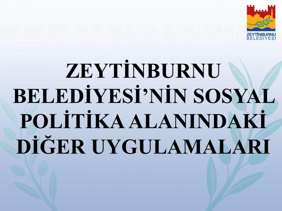 ZEYTİNBURNU BELEDİYESİ'NİN SOSYAL POLİTİKA ALANINDAKİ DİĞER UYGULAMALARI