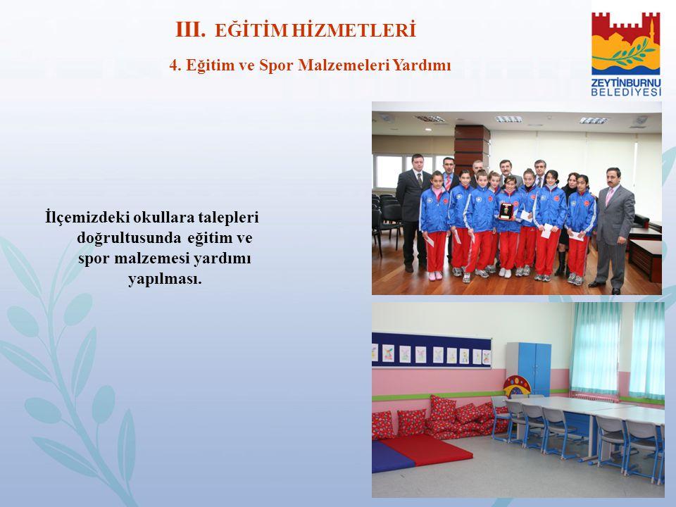 4. Eğitim ve Spor Malzemeleri Yardımı