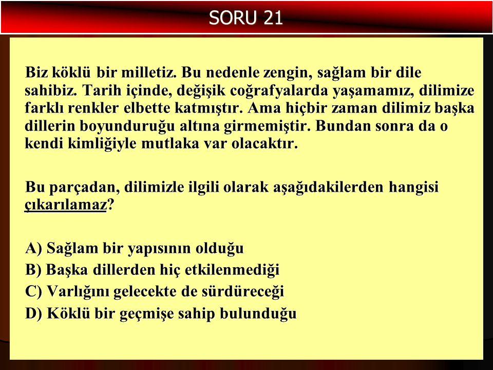 SORU 21