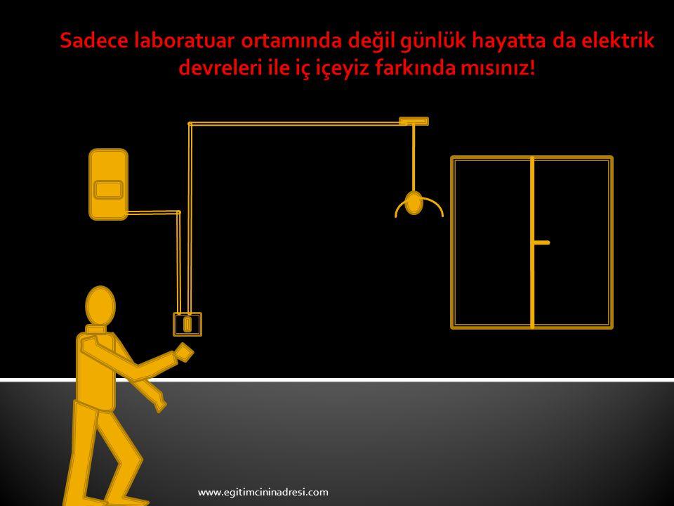 Sadece laboratuar ortamında değil günlük hayatta da elektrik devreleri ile iç içeyiz farkında mısınız!