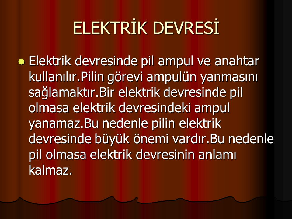 ELEKTRİK DEVRESİ