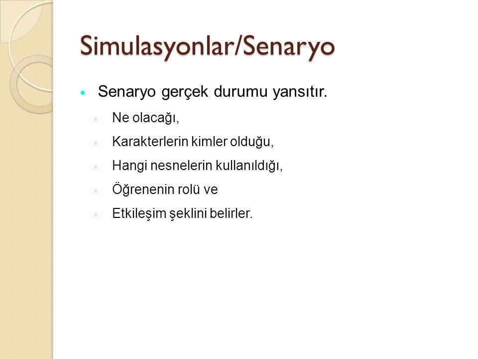 Simulasyonlar/Senaryo