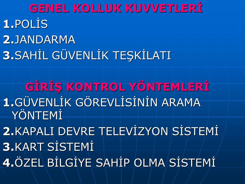 GENEL KOLLUK KUVVETLERİ