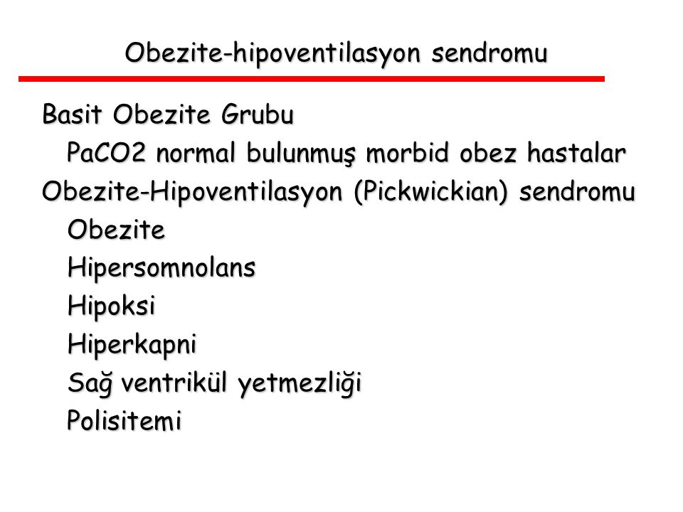 Obezite-hipoventilasyon sendromu