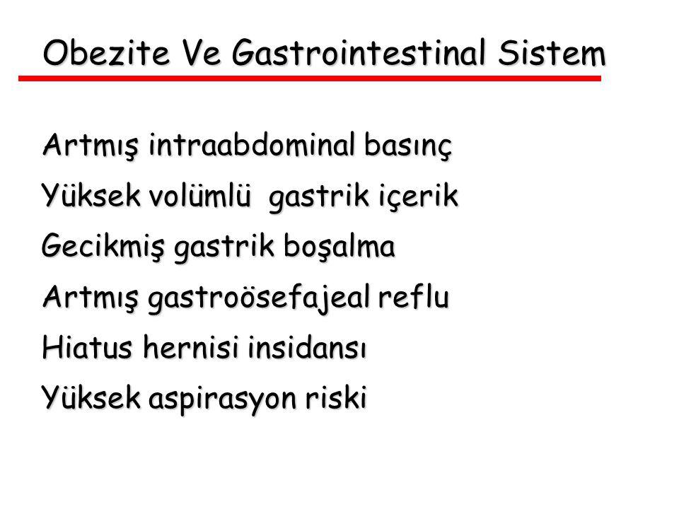 Obezite Ve Gastrointestinal Sistem