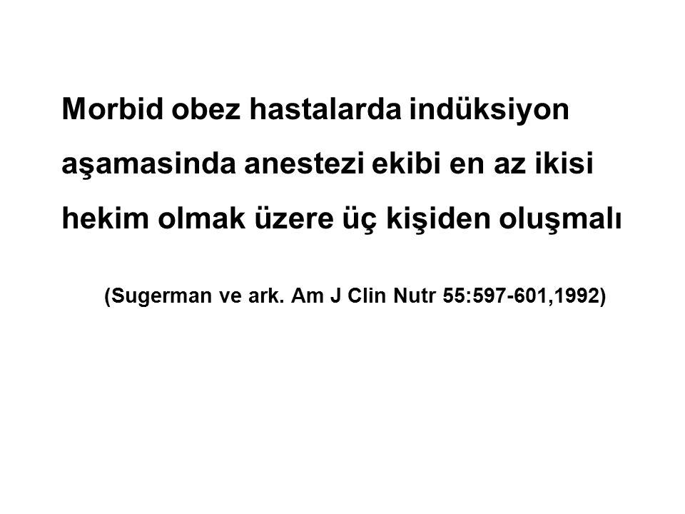 (Sugerman ve ark. Am J Clin Nutr 55:597-601,1992)