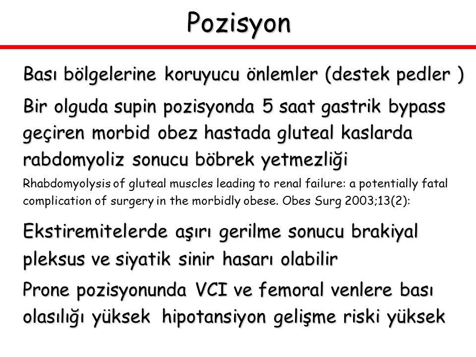 Pozisyon Bası bölgelerine koruyucu önlemler (destek pedler )