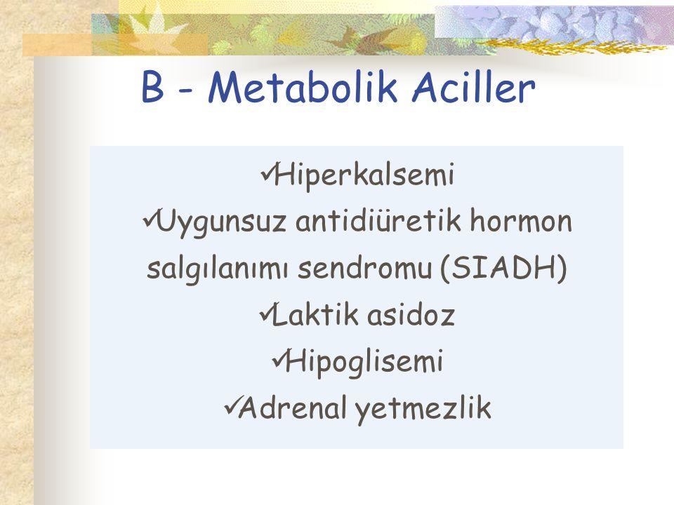 Uygunsuz antidiüretik hormon salgılanımı sendromu (SIADH)