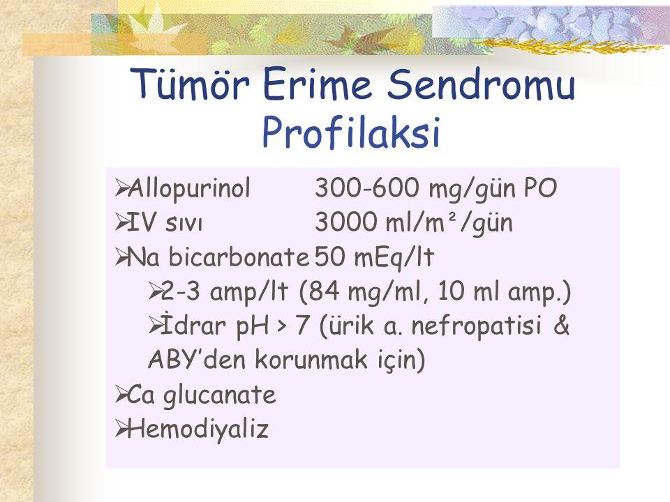 Tümör Erime Sendromu Profilaksi