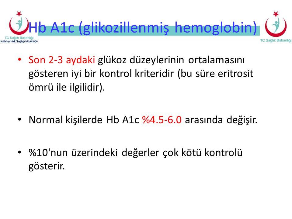 Hb A1c (glikozillenmiş hemoglobin)