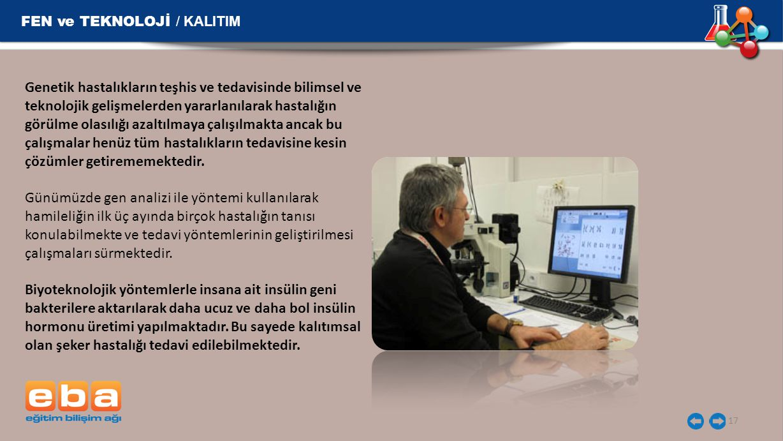 FEN ve TEKNOLOJİ / KALITIM