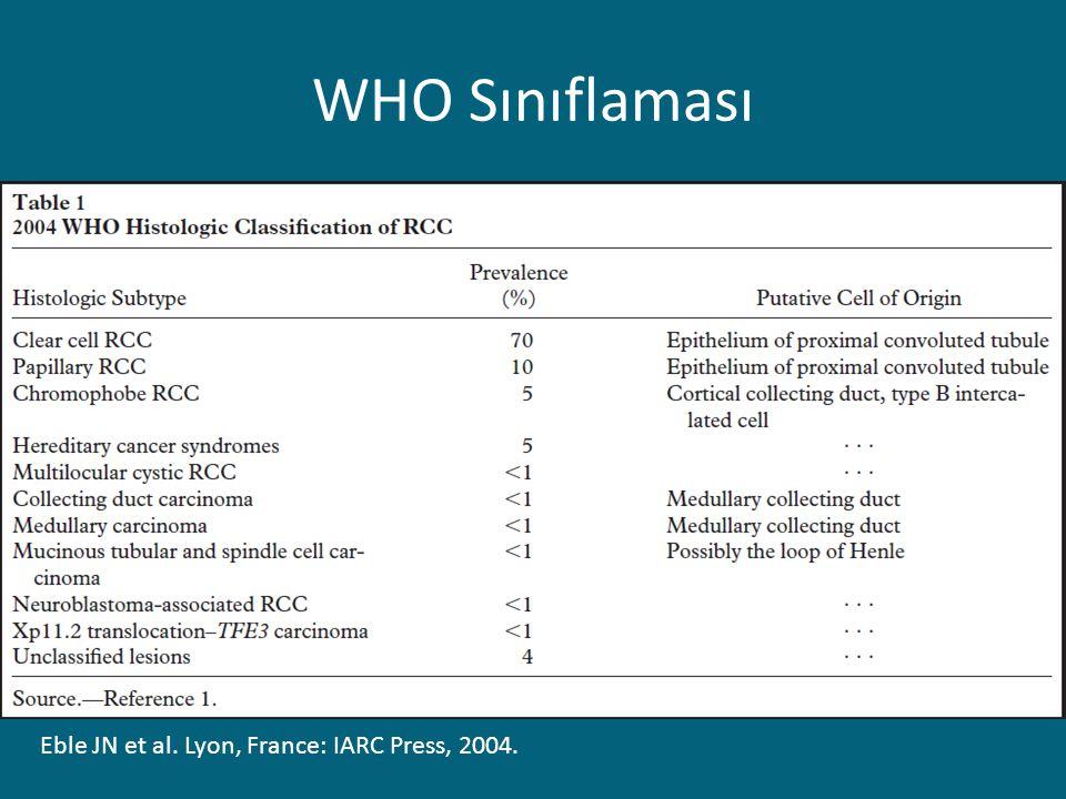WHO Sınıflaması Eble JN et al. Lyon, France: IARC Press, 2004.