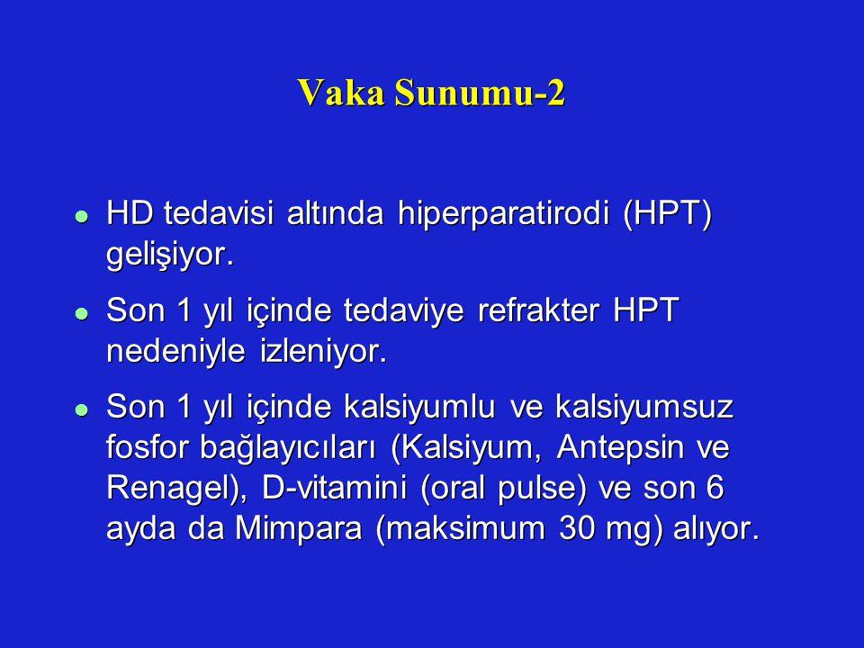 Vaka Sunumu-2 HD tedavisi altında hiperparatirodi (HPT) gelişiyor.