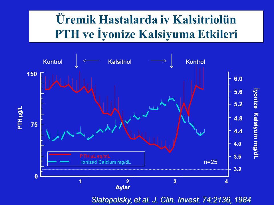 Üremik Hastalarda iv Kalsitriolün PTH ve İyonize Kalsiyuma Etkileri