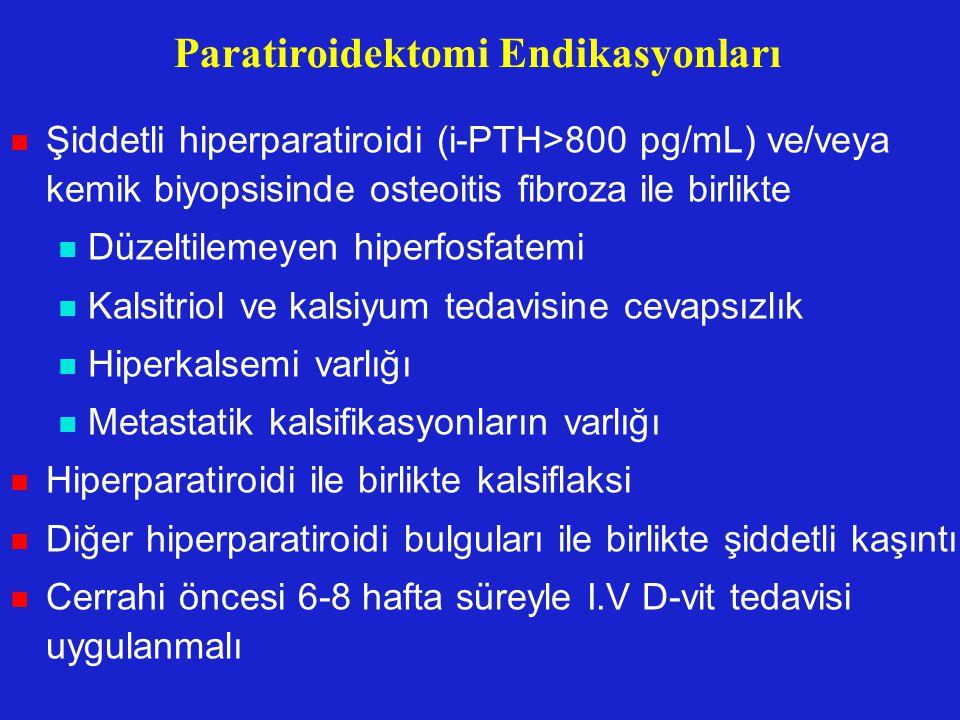 Paratiroidektomi Endikasyonları