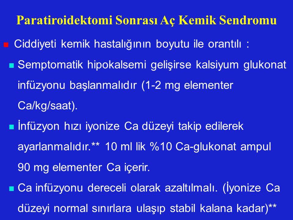 Paratiroidektomi Sonrası Aç Kemik Sendromu
