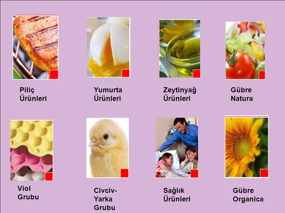 Piliç Ürünleri Yumurta Ürünleri. Zeytinyağ Ürünleri. Gübre Natura. Viol Grubu. Civciv-Yarka Grubu.