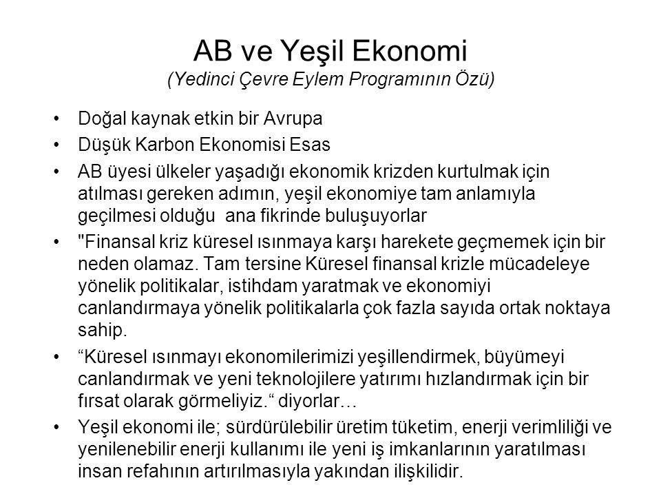 AB ve Yeşil Ekonomi (Yedinci Çevre Eylem Programının Özü)
