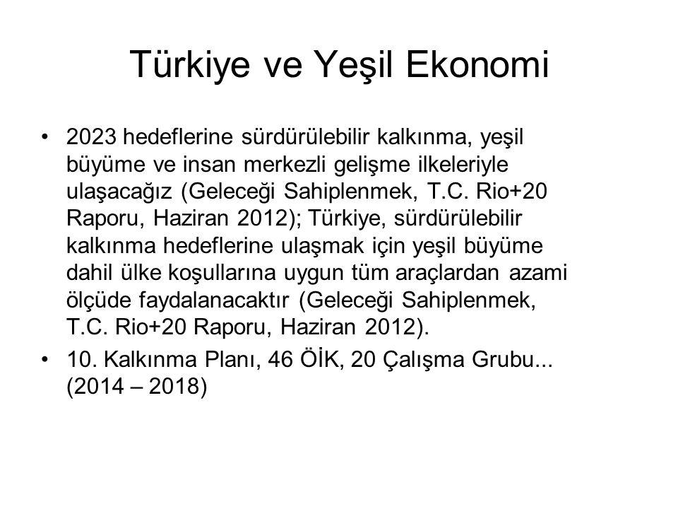 Türkiye ve Yeşil Ekonomi