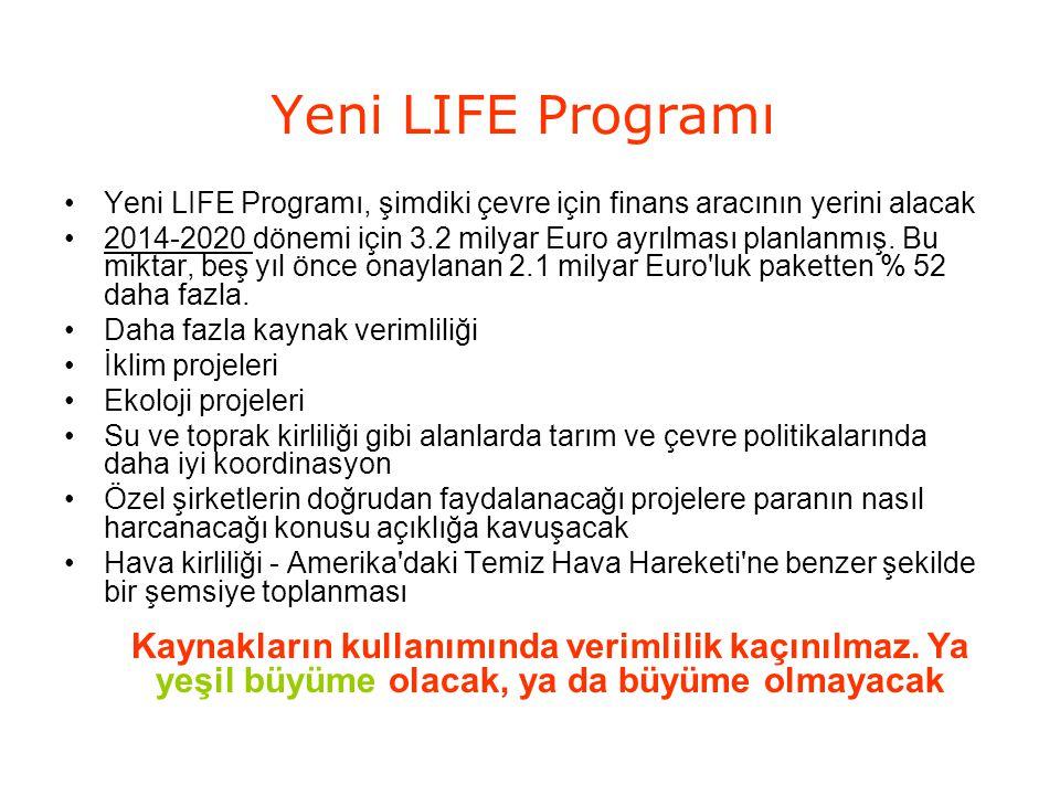 Yeni LIFE Programı Yeni LIFE Programı, şimdiki çevre için finans aracının yerini alacak.
