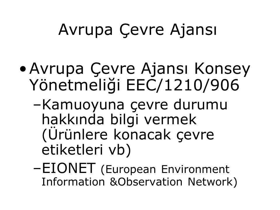 Avrupa Çevre Ajansı Konsey Yönetmeliği EEC/1210/906
