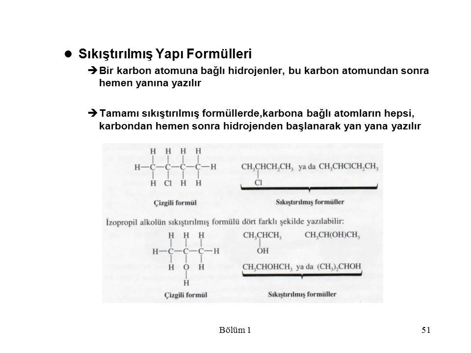 Sıkıştırılmış Yapı Formülleri