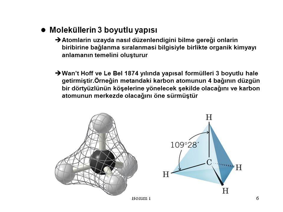 Moleküllerin 3 boyutlu yapısı