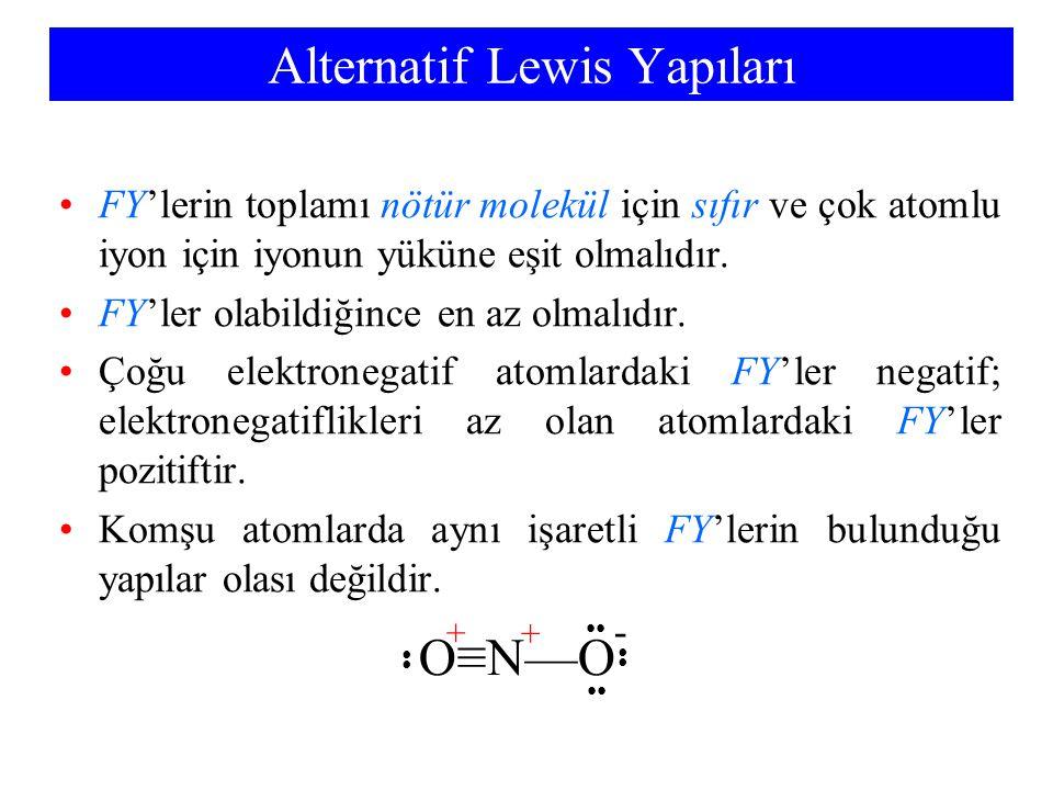 Alternatif Lewis Yapıları