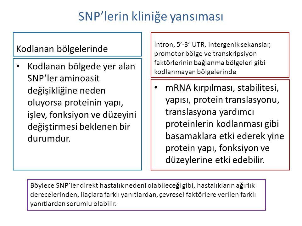 SNP'lerin kliniğe yansıması