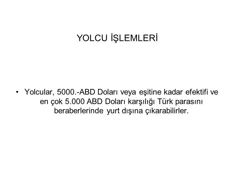 YOLCU İŞLEMLERİ