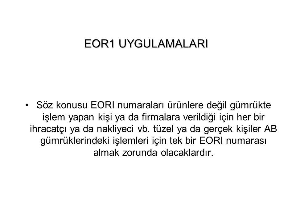 EOR1 UYGULAMALARI