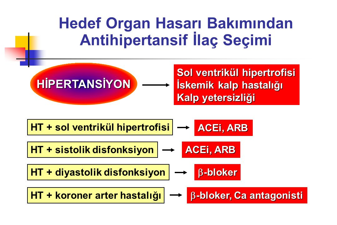 Hedef Organ Hasarı Bakımından Antihipertansif İlaç Seçimi