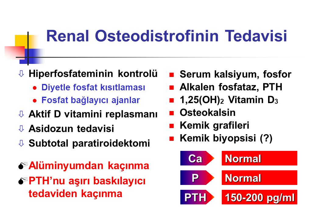 Renal Osteodistrofinin Tedavisi