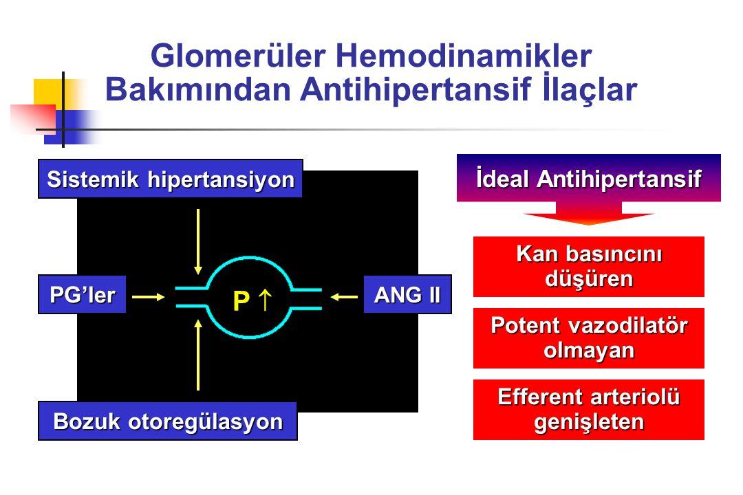 Glomerüler Hemodinamikler Bakımından Antihipertansif İlaçlar