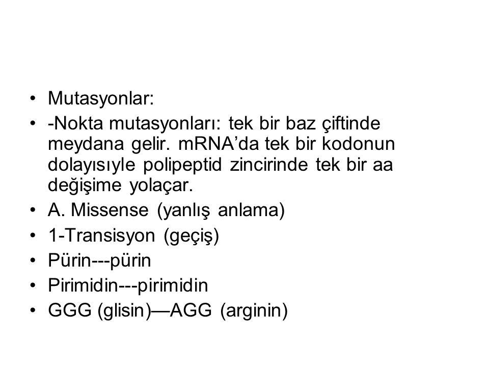 Mutasyonlar: