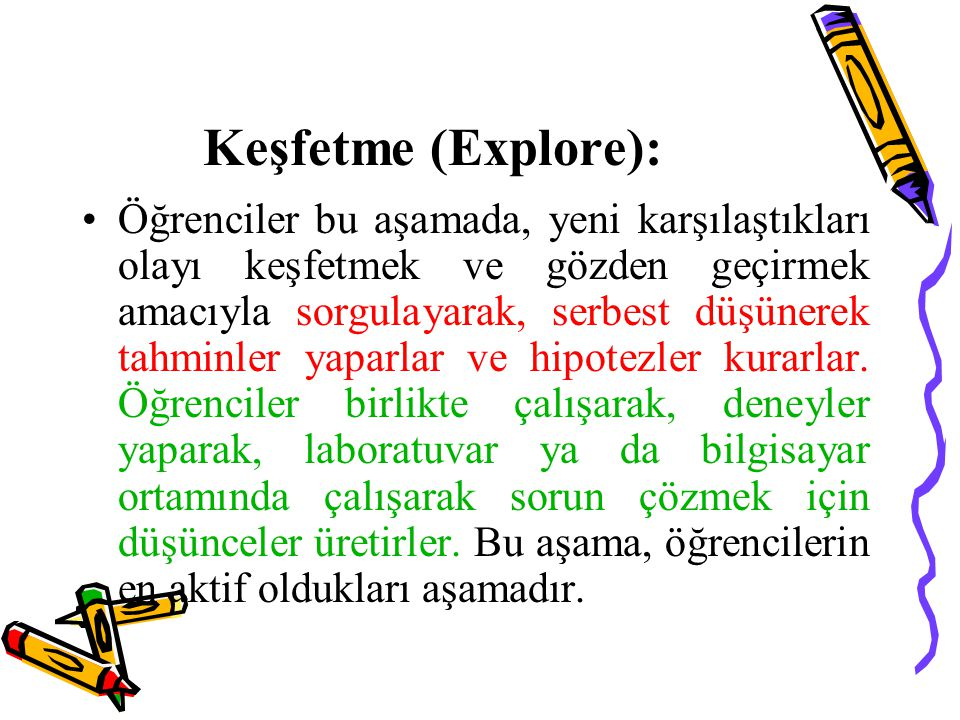 Keşfetme (Explore):