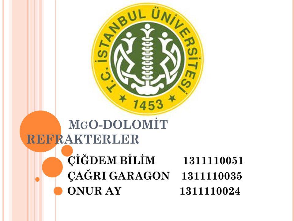 MgO-DOLOMİT REFRAKTERLER